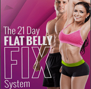 Picture of a man and woman with a flat belly